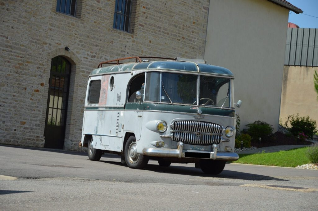 Citroen H Van customer vintage camper from the front with its huge chrome grill
