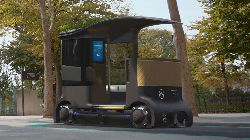 Citroen autonomous concept with Goodyear spherical tires