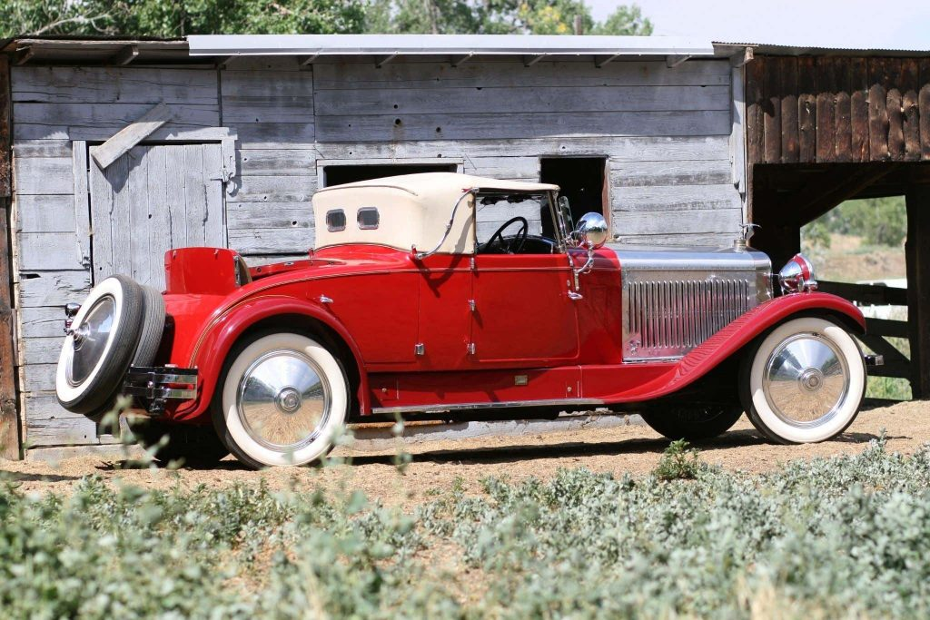 Clive Cussler's Hispano-Suiza that Andy Griffith auctioned to him in a brilliant red