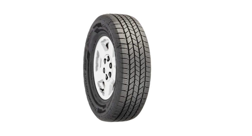 A Continental TerrainContact HT tire.