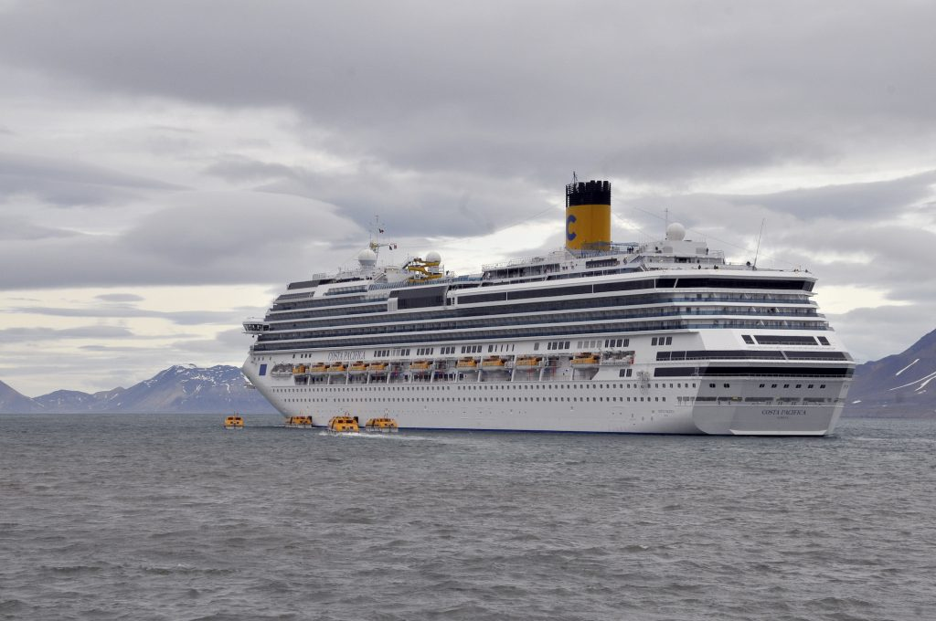The Costa Pacifica cruise ship in Norway's North Atlantic