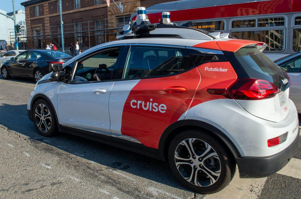 San Francisco: A robot car of the General Motors subsidiary Cruise is on a test drive.