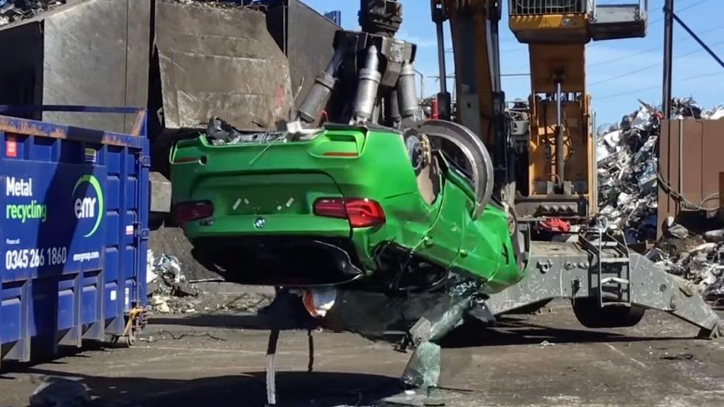 Crushed BMW M3 wagon