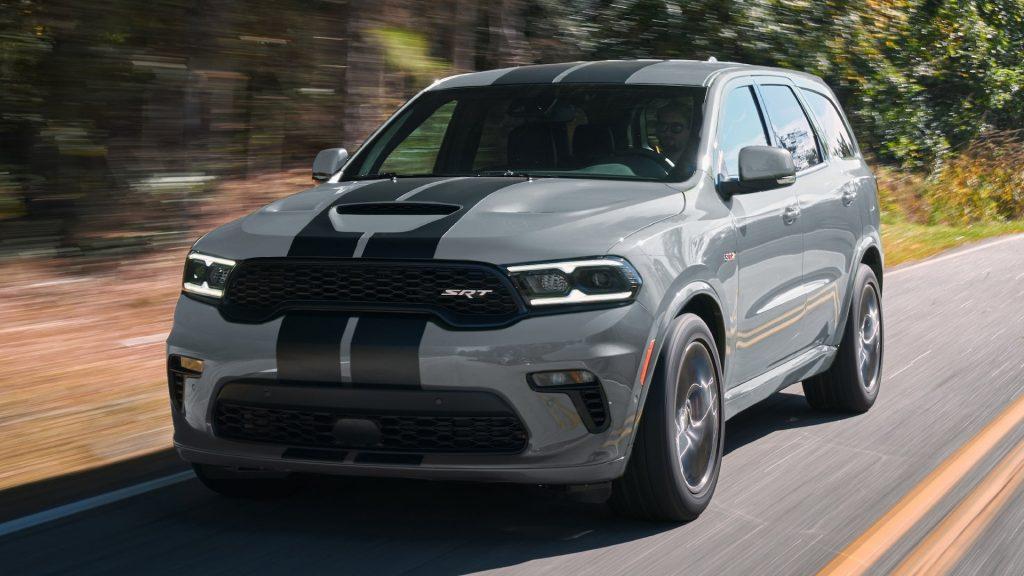 The 2021 Dodge Durango on the street