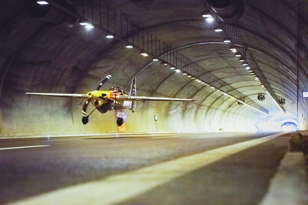 Dario Costa Flying Through Tunnel Outside Istanbul