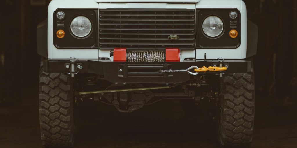 upclose of the grille of the 110