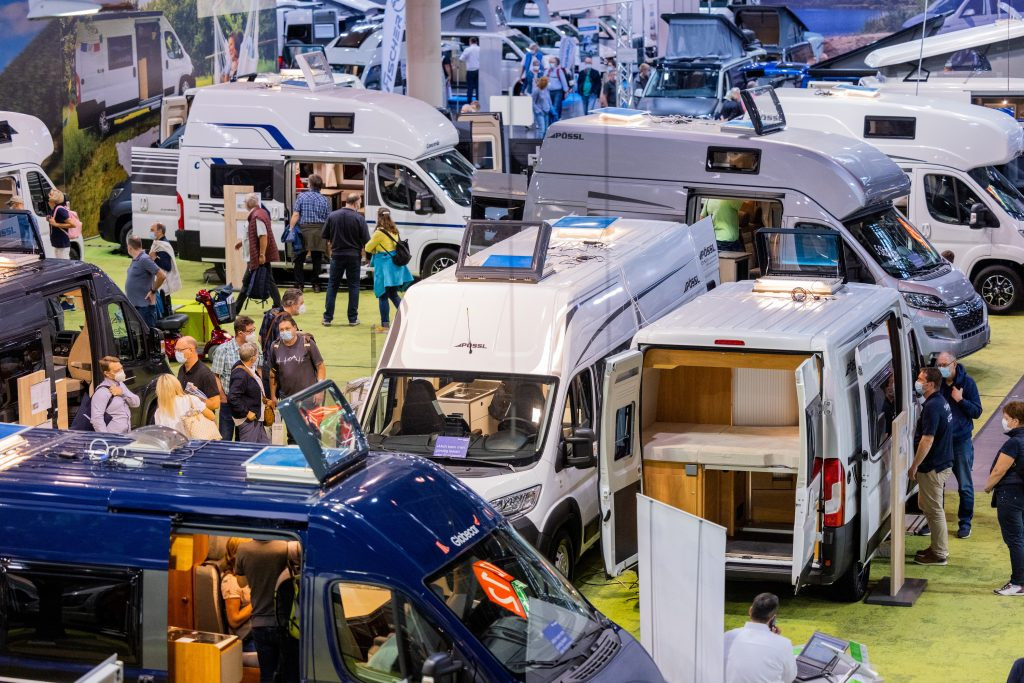 The auto show in Germany is litered with camper vans and RVs