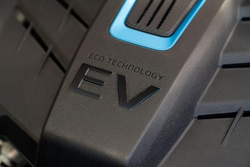 ECO TECHNOLOGY EV badge on 2022 Hyundai Kona Electric