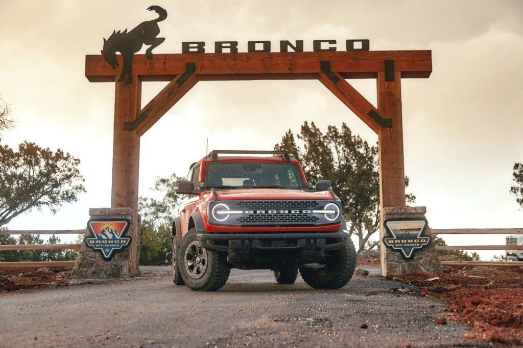 2021 Ford Bronco at the Off-Roadeo school