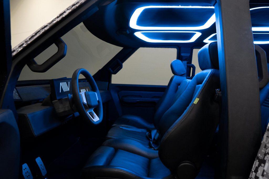Front seats of Atlis XT prototype