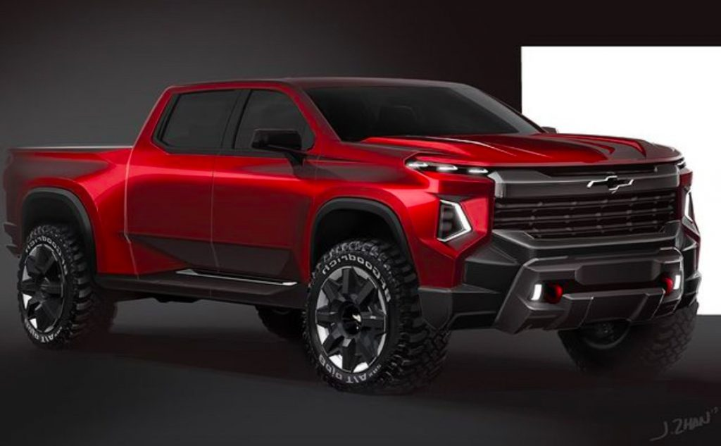 GM Design render of 2022 Chevy Silverado