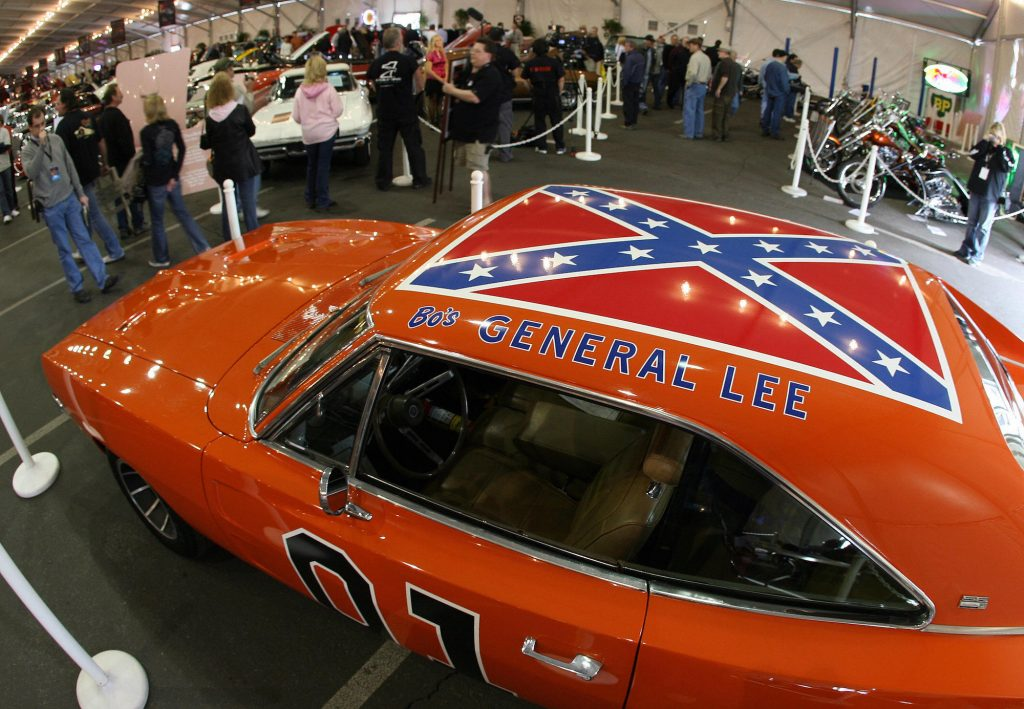 The General Lee from 'The Dukes of Hazzard' is an orange 1969 Dodge Charger