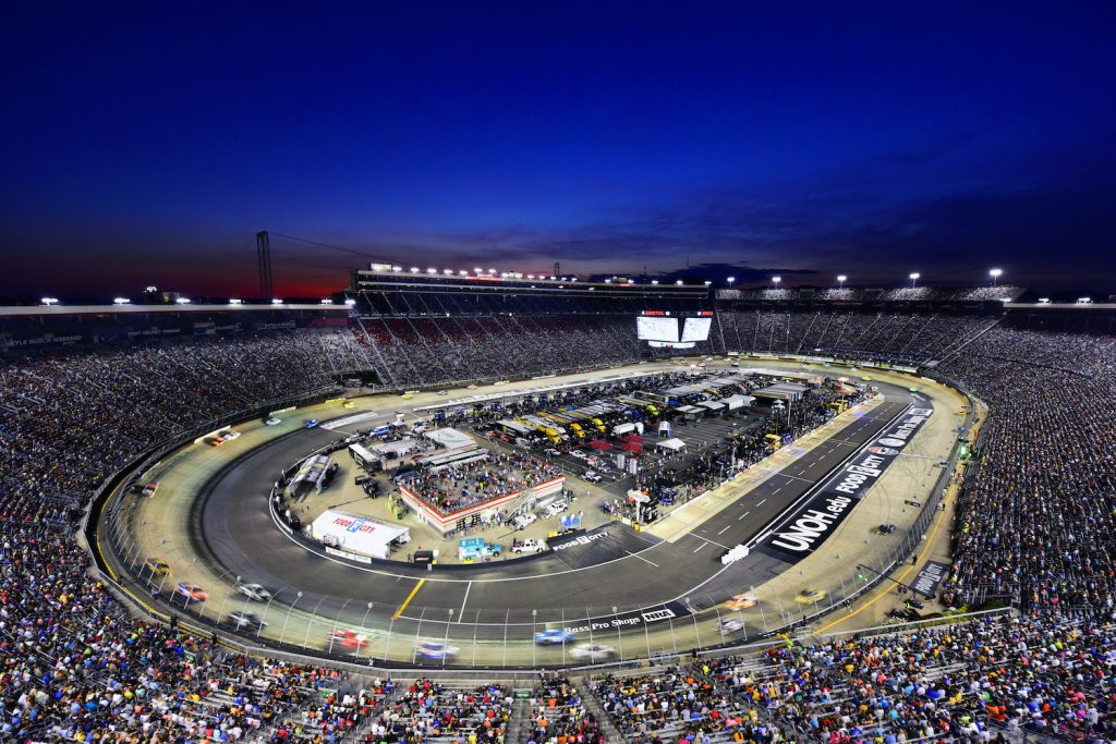 BRISTOL, TENNESSEE - AUGUST 17: A general view of the action during the Monster Energy NASCAR Cup Series Bass Pro Shops NRA Night Race at Bristol Motor Speedway on August 17, 2019 in Bristol, Tennessee. (Photo by Jared C. Tilton/Getty Images)