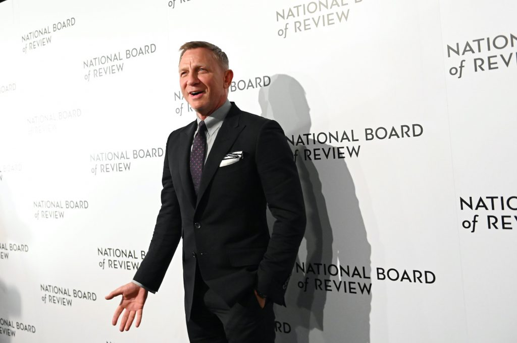 """NEW YORK, NEW YORK - JANUARY 08: (L-R) Actor Daniel Craig  attends the 2020 National Board Of Review Gala on January 08, 2020 in New York City. (Photo by Mike Coppola/FilmMagic) Daniel Craig plays James Bond who drives a Toyota in 'No Time To Die"""""""