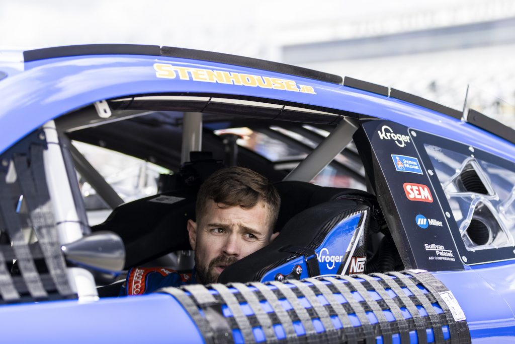 Ricky Stenhouse Jr., driver of the #47 NASCAR Next Gen car. Drivers are complaining that NASCAR Next Gen Cars Are Too Hot To Drive   James Gilbert/Getty Images