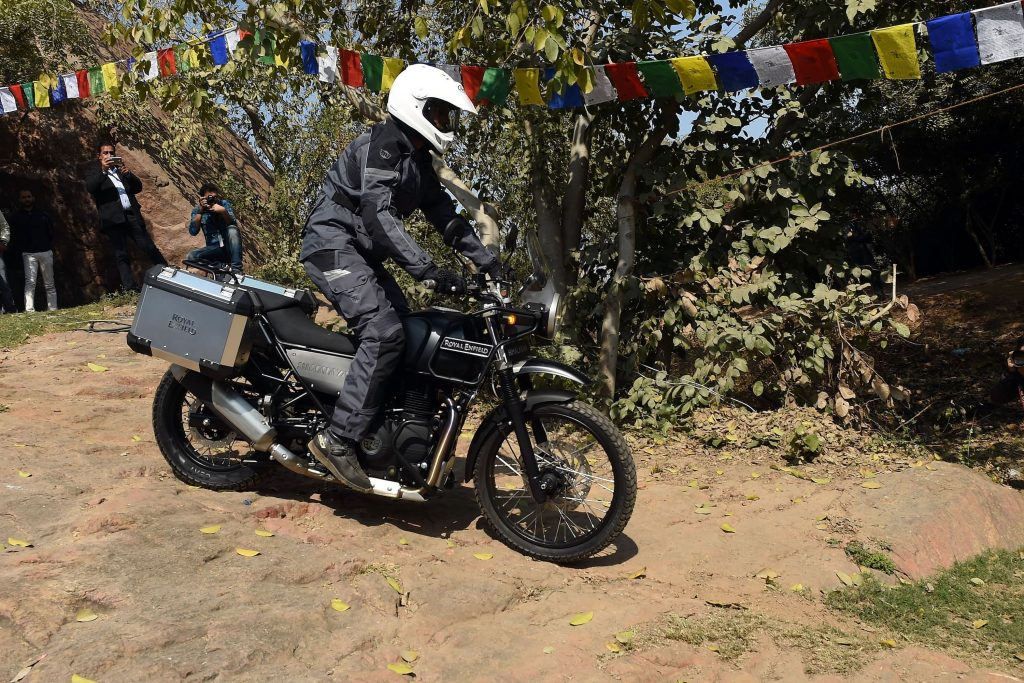 The Royal Enfield Himalayan riding course in India. Shows that this is the best motorcycle for beginners