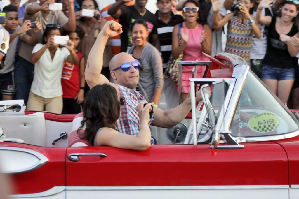 Vin Diesel filming a Fast and Furious movie. One of the series' most realistic action set pieces was in Fast & Furious 7 | Sven Creutzmann/Mambo photo/Getty Images