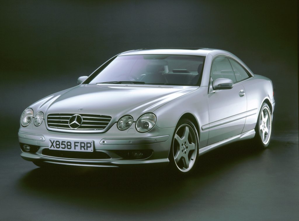 2001 Mercedes Benz CL 55 AMG V8 in a black studio. (Photo by National Motor Museum/Heritage Images/Getty Images) Ed Bolian set the 2013 cannonball run record in a similar car.