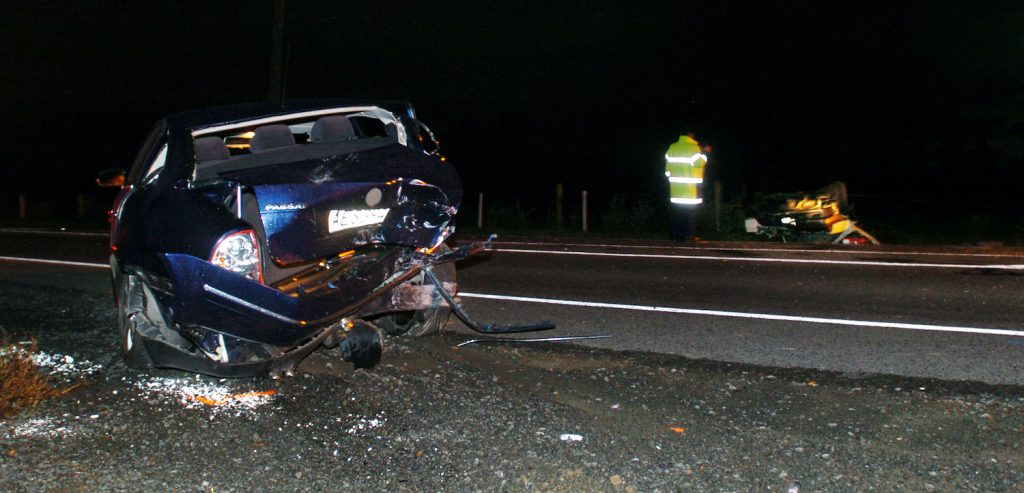 A Stolen VW Passat involved in an accident. FOTOPRESS/Ross Land. A record-setting Cannonball run Mercedes E63 was destroyed in early 2020.