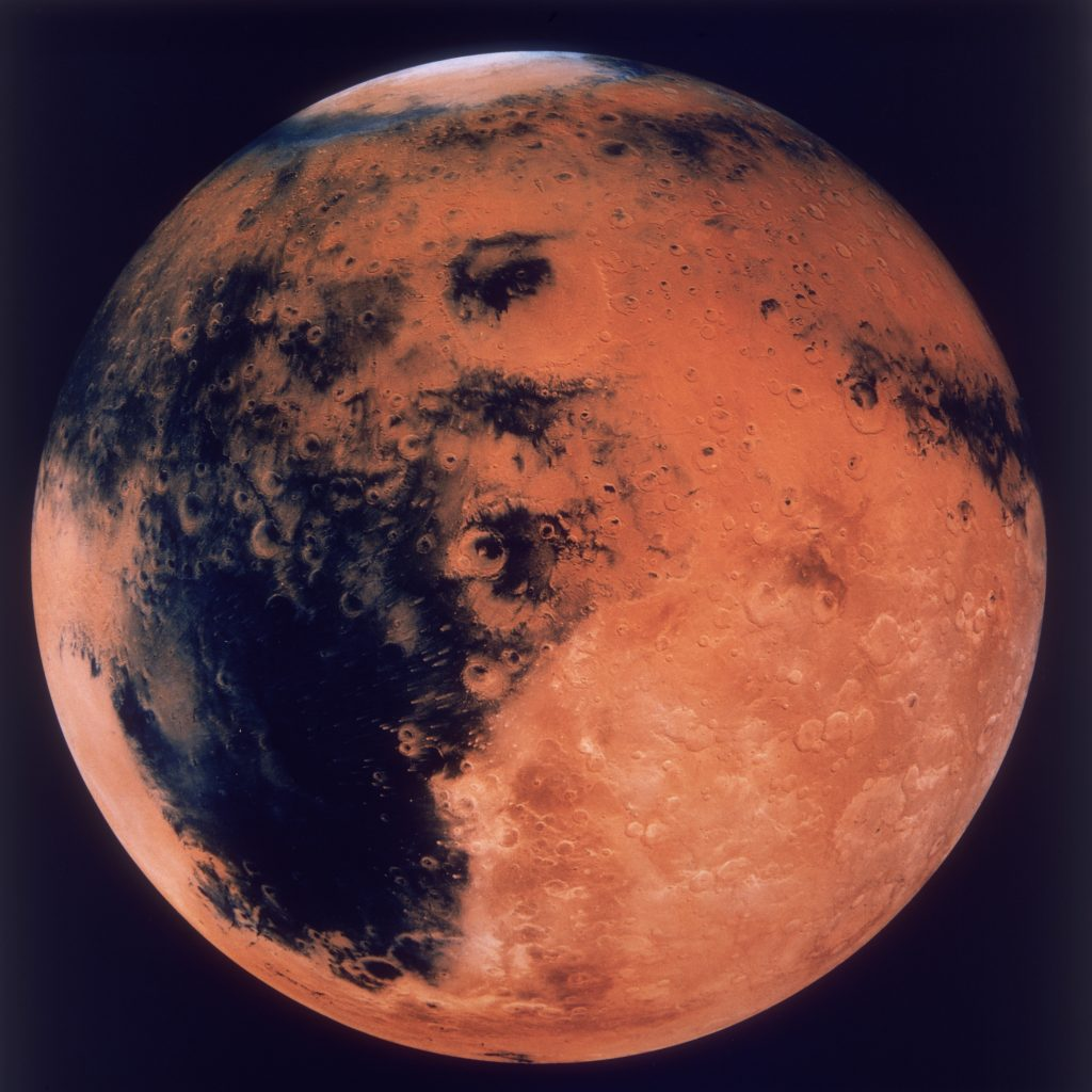 Image of Mars from the 80s before space travel was good enough to get there.