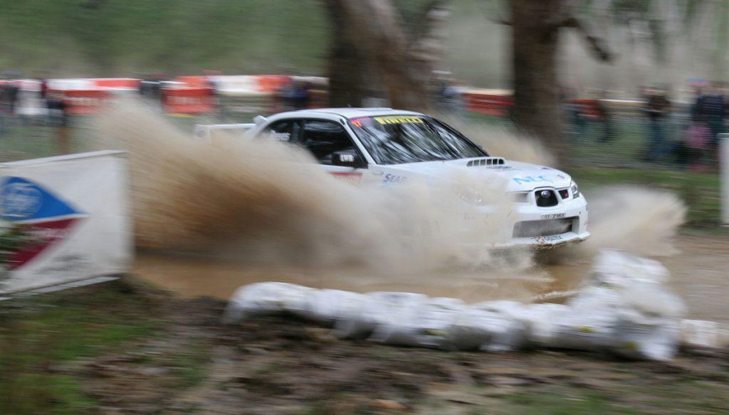 A Subaru WRX on the move