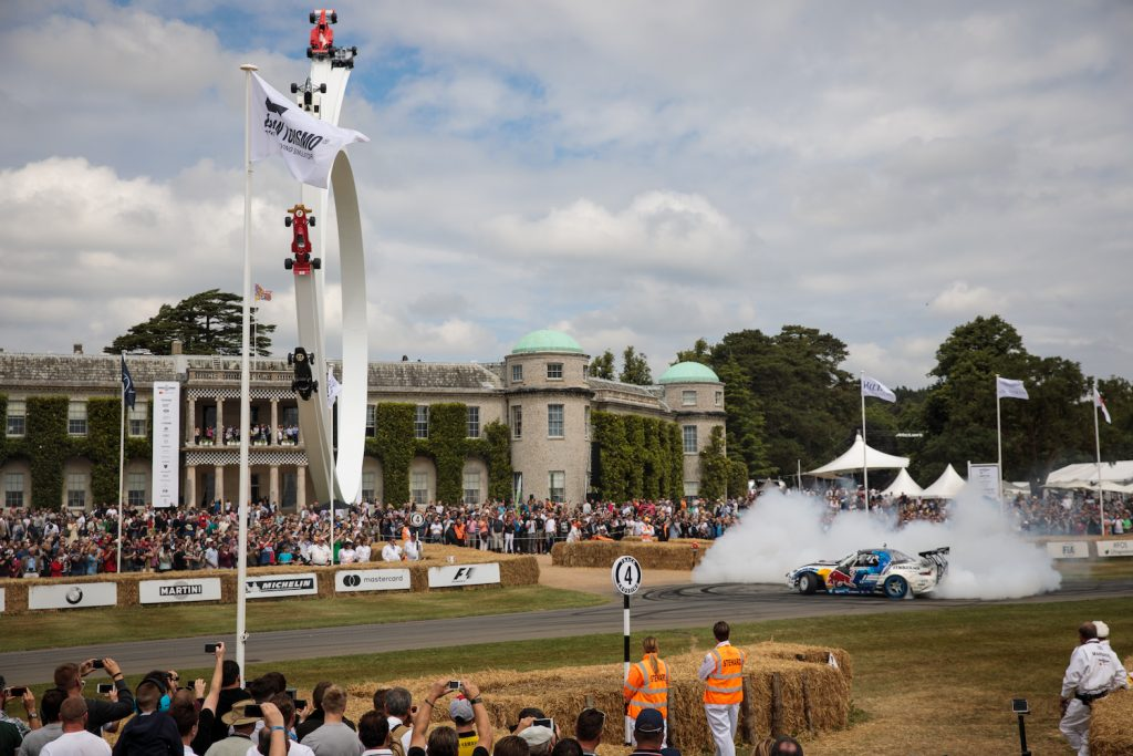 CHICHESTER, ENGLAND - JULY 01: A 'Radbul' Mazda MX-5 car performs a wheel spin at Goodwood Festival of Speed on July 01, 2017 in Chichester, England. The Goodwood Festival of Speed is an annual motor racing event held in the grounds of Goodwood House. The four day event features a hill climb and displays of super and classic cars. (Photo by Jack Taylor/Getty Images)