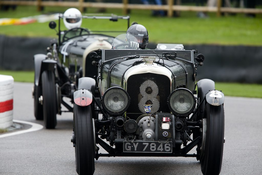 CHICHESTER, ENGLAND - SEPTEMBER 08:  1930 Bentley 4.5-litre Supercharged, driven by entrant Robert Fink in The Brooklands Trophy at Goodwood on September 8th 2017 in Chichester, England. (Photo by Michael Cole/Corbis via Getty Images) This is a car that both James Bond and Jay Leno own.