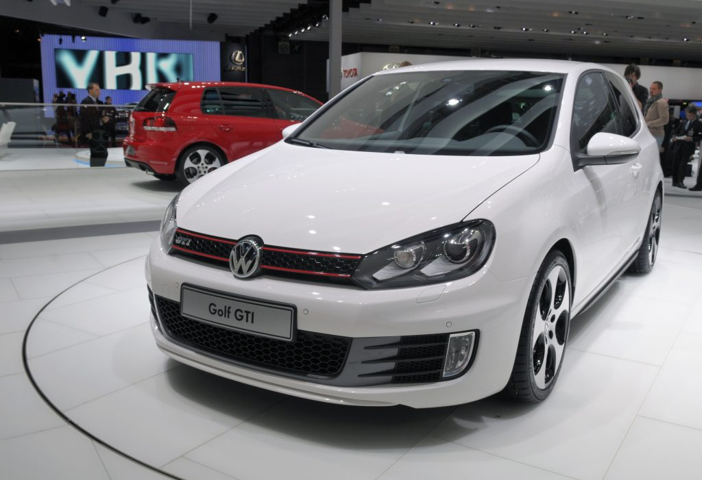 this 2008 VW golf GTI is at the 95th f=French autoshow. It is one of the coolest sleeper cars ever made