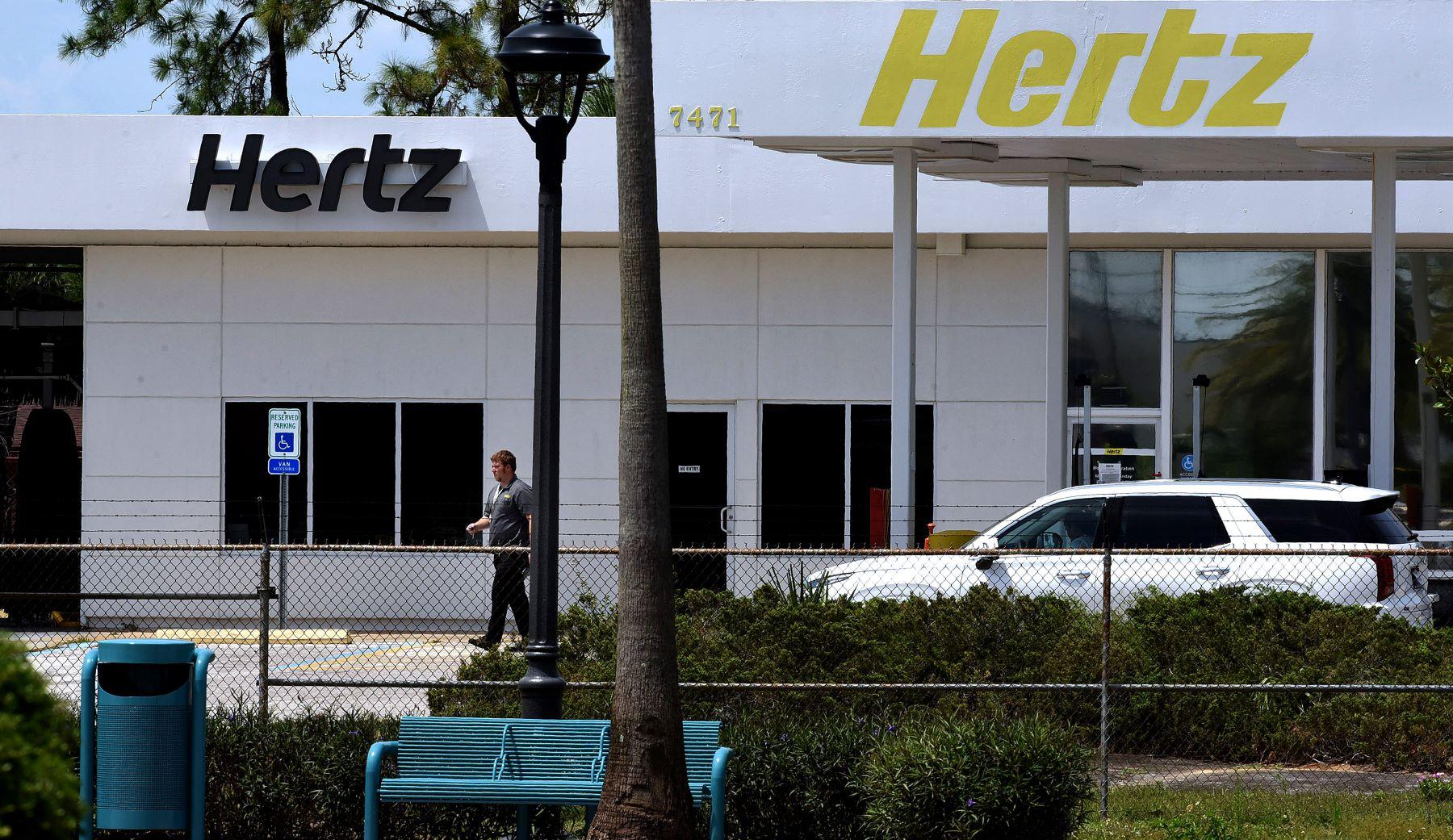 A Hertz car rental office in Kissimmee, Florida