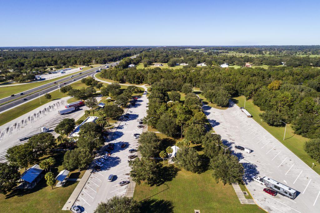 Highway Rest Stop in Florida