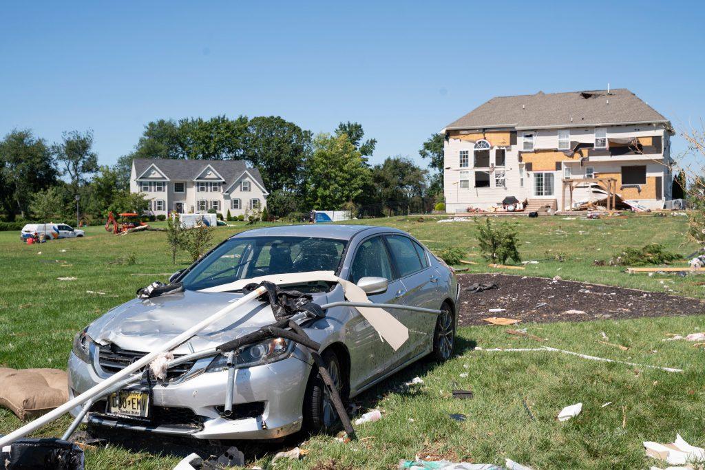 Hurricane Ida damage in Mullica Hill, NJ