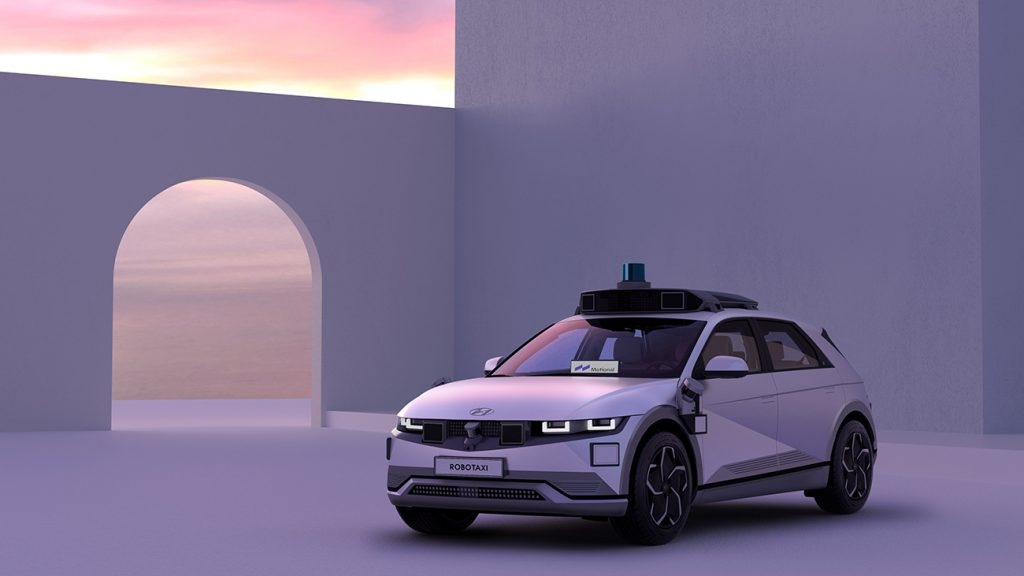 Hyundai IONIQ 5 robotaxi equipped with Motional autonomous driving technology.