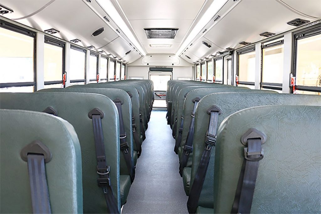 Interior of the GreenPower BEAST school bus