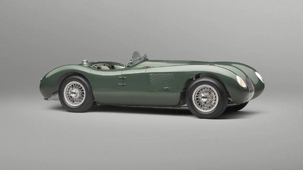 A green Jaguar C-Type Continuation