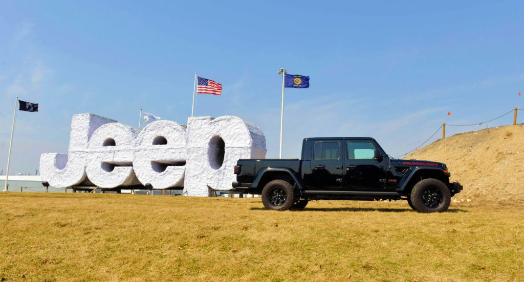 Noah Galloway helps launch Jeep Gladiator Launch Edition truck and Find Your Freedom Contest on March 28, 2019 in Toledo, Ohio.