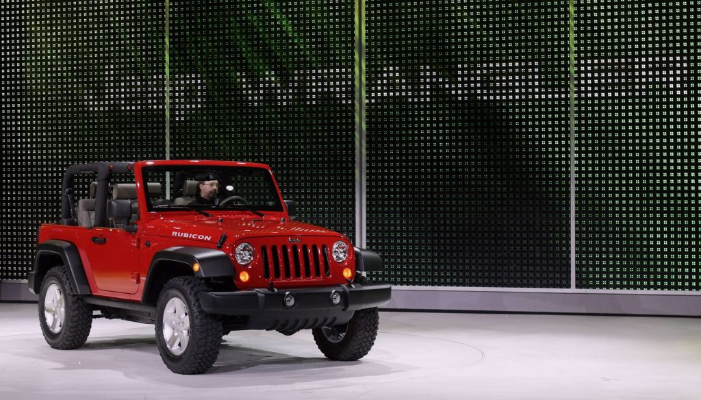 The Jeep Wrangler Rubicon during the 2006 North American International Auto Show
