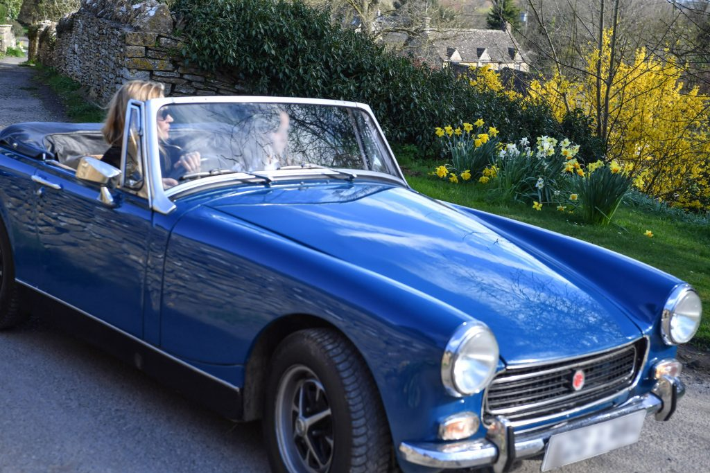 This MG Midget is only of of the great cars in Kate Moss' vintage car collection