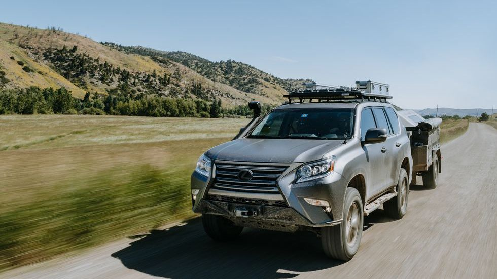 Lexus GXOR Concept for offroading, driving outside towing a trailer