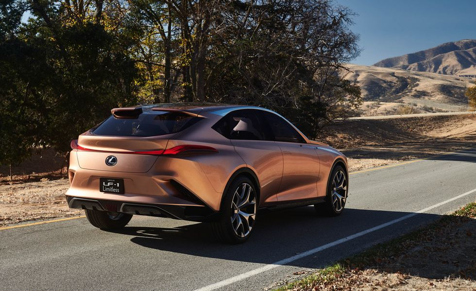 Lexus LF-1 Limitless Concept driving during the day