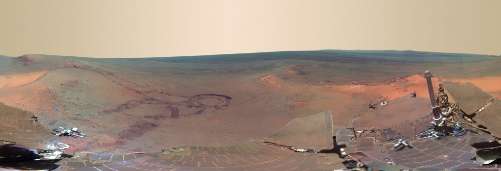 panoramic of mars taken by the Opportunity Rover