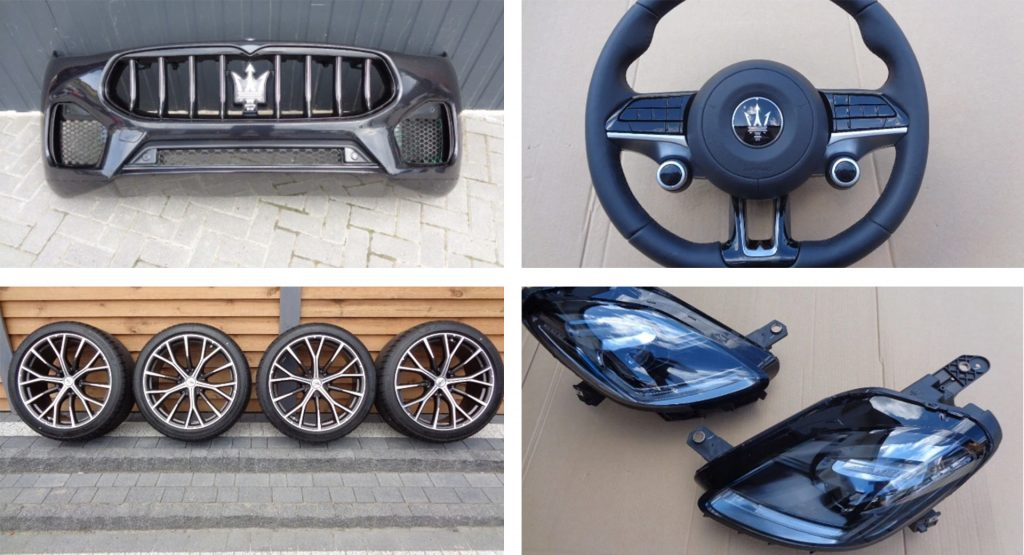 Parts for the unreleased Maserati Grecale were leaked online