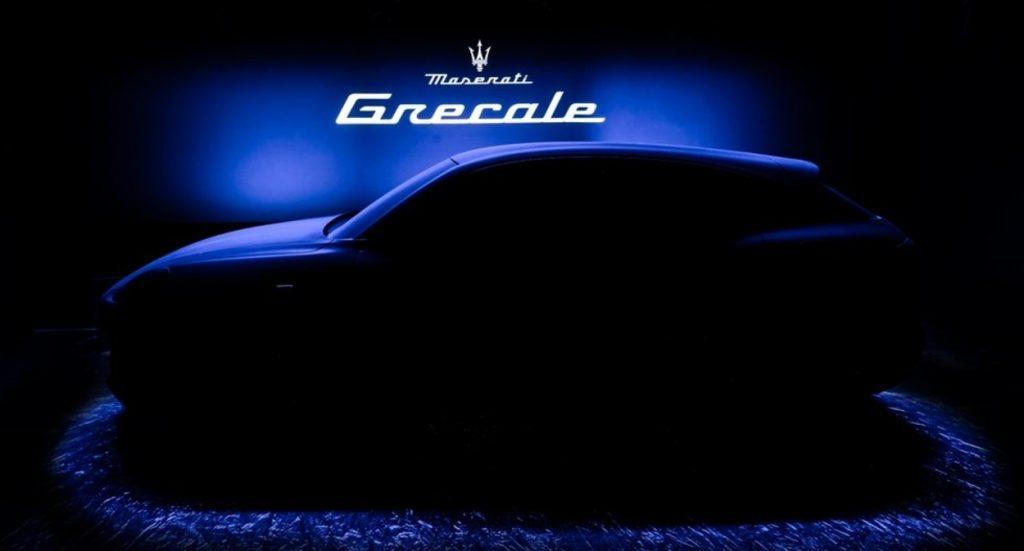 A dark silhouette teases the new 2022 Maserati Grecale
