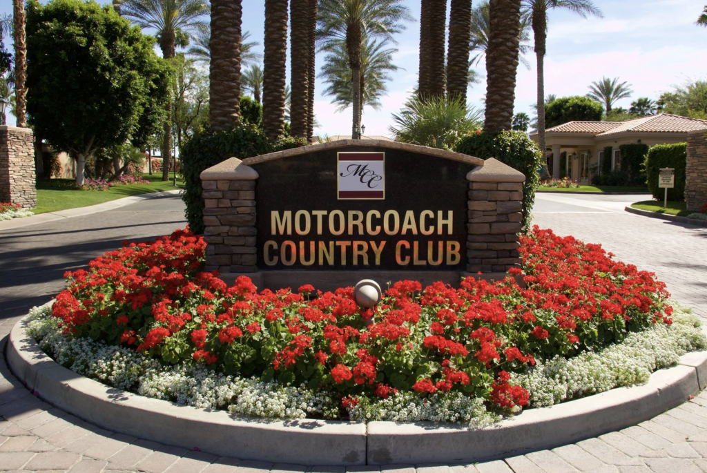 Motorcoach Country Club Entrance For Luxury RV Park