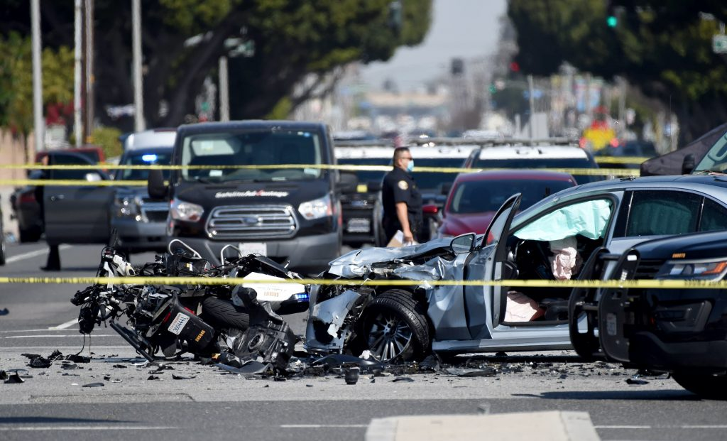 A sheriff deputy on a motorcycle was killed in a collision with a vehicle at the intersection of Del Amo and Paramount in Lakewood