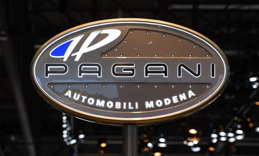 A Pagani sign, makers of the Huayra Tricolore.