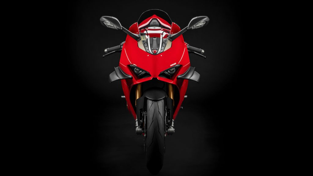 This is a promo photo of the 2022 Ducati Panigale. The Venom motorcycle was Ducati Scrambler, in Venom 2, Let There Be Carnage, Tom Hardy rides this brand new bike instead.