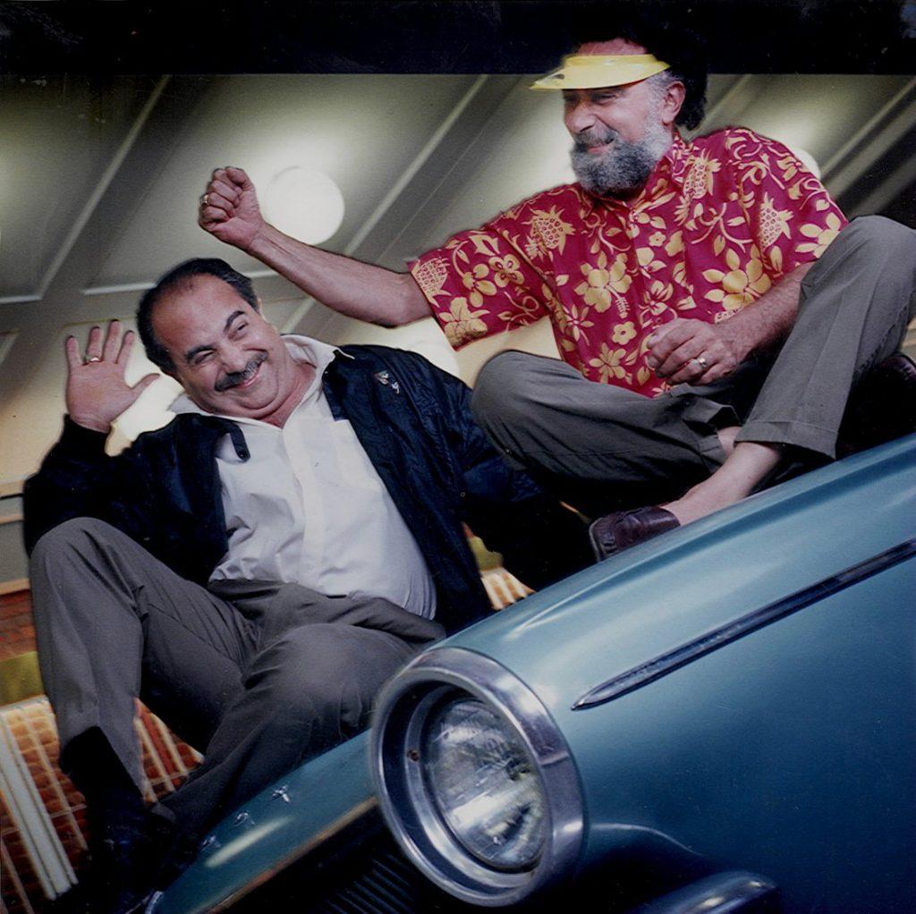"Ray and Tom Magliozzi of WBUR's Automotive Radio Show ""Car Talk"""