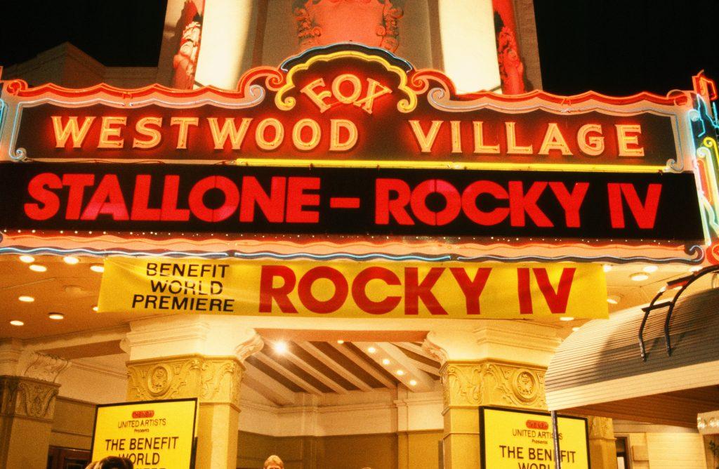 Rocky IV Sign
