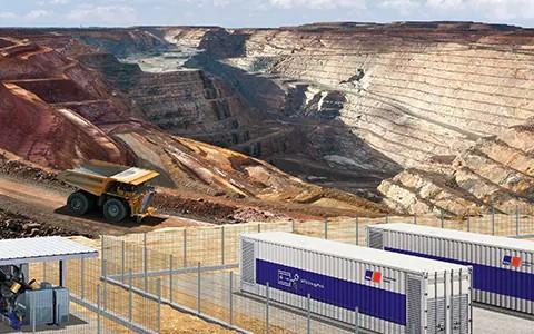 Rolls Royce hybrid mtu mining truck