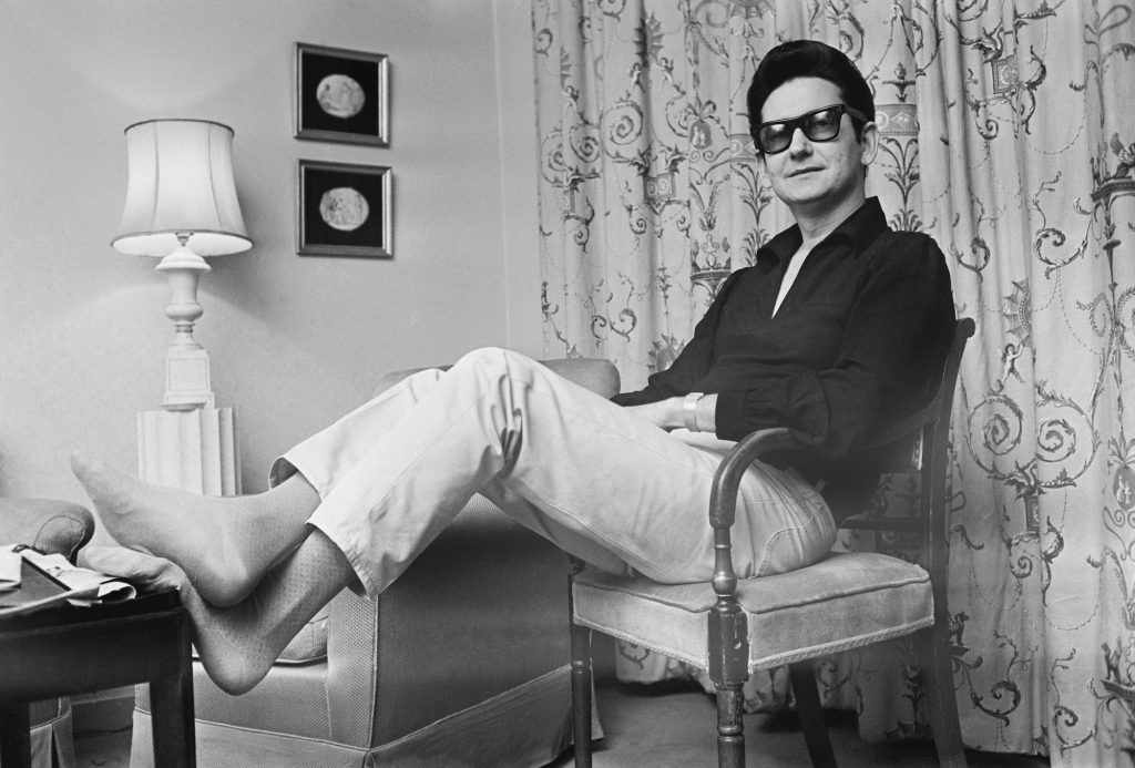 Roy Orbison sits in his room at the Westbury Hotel, London, in March 1967
